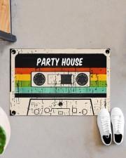 "Cassette Customize Name Doormat 22.5"" x 15""  aos-doormat-22-5x15-lifestyle-front-07"