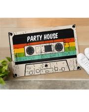 "Cassette Customize Name Doormat 22.5"" x 15""  aos-doormat-22-5x15-lifestyle-front-11"