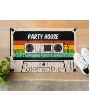 "Cassette Customize Name Doormat 22.5"" x 15""  aos-doormat-22-5x15-lifestyle-front-12"