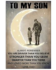 To my son 11x17 Poster front