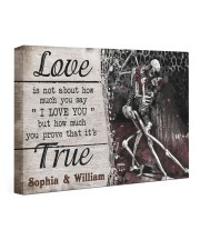 True Love DD123101MA Customize Name 24x16 Gallery Wrapped Canvas Prints front