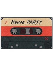 """House Party DD123007MA Doormat 28"""" x 17"""" front"""