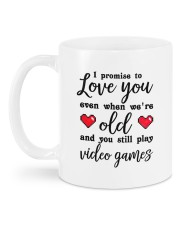 I Promise To Love You DD011118DH Customize Name Mug back