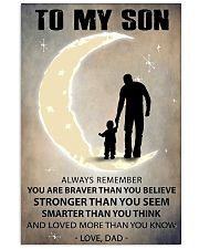 To my son 2 11x17 Poster front