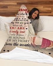 """Mother Daughter My Love 2 Blanket Large Fleece Blanket - 60"""" x 80"""" aos-coral-fleece-blanket-60x80-lifestyle-front-03"""