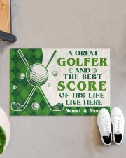 """A Great Golfer DD010721NA Customize Name Doormat 22.5"""" x 15""""  aos-doormat-22-5x15-lifestyle-front-07"""