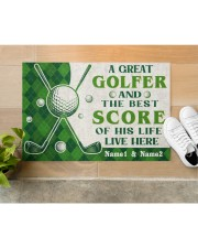 """A Great Golfer DD010721NA Customize Name Doormat 22.5"""" x 15""""  aos-doormat-22-5x15-lifestyle-front-12"""