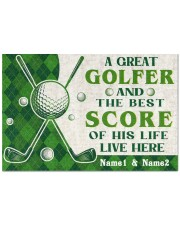 """A Great Golfer DD010721NA Customize Name Doormat 22.5"""" x 15""""  front"""