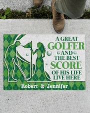 """A Great Golfer DD010823NA Customize Name Doormat 34"""" x 23"""" aos-doormat-34-x-23-lifestyle-front-01"""