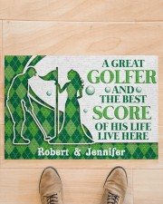 """A Great Golfer DD010823NA Customize Name Doormat 34"""" x 23"""" aos-doormat-34-x-23-lifestyle-front-02"""