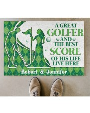 """A Great Golfer DD010823NA Customize Name Doormat 34"""" x 23"""" aos-doormat-34-x-23-lifestyle-front-04"""