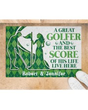 """A Great Golfer DD010823NA Customize Name Doormat 34"""" x 23"""" aos-doormat-34-x-23-lifestyle-front-05"""