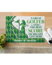 """A Great Golfer DD010823NA Customize Name Doormat 34"""" x 23"""" aos-doormat-34-x-23-lifestyle-front-12"""