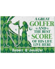 """A Great Golfer DD010823NA Customize Name Doormat 34"""" x 23"""" front"""