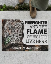 """A Firefighter DD010714NA Customize Name Doormat 34"""" x 23"""" aos-doormat-34-x-23-lifestyle-front-01"""