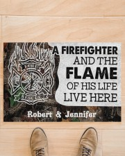 """A Firefighter DD010714NA Customize Name Doormat 34"""" x 23"""" aos-doormat-34-x-23-lifestyle-front-02"""