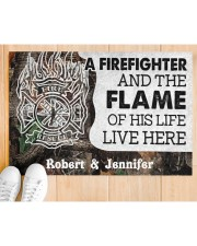 """A Firefighter DD010714NA Customize Name Doormat 34"""" x 23"""" aos-doormat-34-x-23-lifestyle-front-03"""