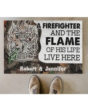 """A Firefighter DD010714NA Customize Name Doormat 34"""" x 23"""" aos-doormat-34-x-23-lifestyle-front-04"""