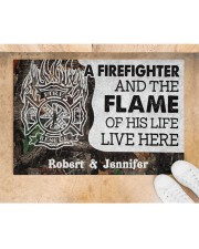 """A Firefighter DD010714NA Customize Name Doormat 34"""" x 23"""" aos-doormat-34-x-23-lifestyle-front-05"""