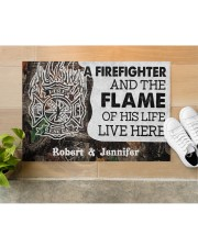 """A Firefighter DD010714NA Customize Name Doormat 34"""" x 23"""" aos-doormat-34-x-23-lifestyle-front-12"""