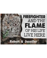 """A Firefighter DD010714NA Customize Name Doormat 34"""" x 23"""" front"""