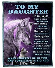 To my daughter big hug 3 Fleece Blanket tile