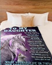 "To my daughter big hug 3 Large Fleece Blanket - 60"" x 80"" aos-coral-fleece-blanket-60x80-lifestyle-front-02"