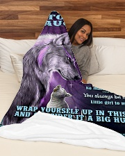 "To my daughter big hug 3 Large Fleece Blanket - 60"" x 80"" aos-coral-fleece-blanket-60x80-lifestyle-front-03"