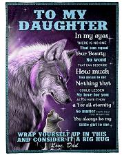 """To my daughter big hug 3 Large Fleece Blanket - 60"""" x 80"""" front"""