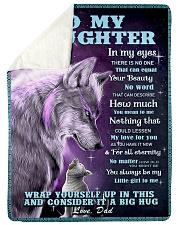 To my daughter big hug 3 Sherpa Fleece Blanket tile