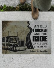 """An Old Trucker DD010901DH Customize Name Doormat 34"""" x 23"""" aos-doormat-34-x-23-lifestyle-front-01"""
