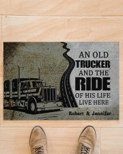 """An Old Trucker DD010901DH Customize Name Doormat 34"""" x 23"""" aos-doormat-34-x-23-lifestyle-front-02"""