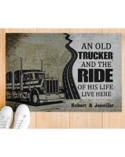 """An Old Trucker DD010901DH Customize Name Doormat 34"""" x 23"""" aos-doormat-34-x-23-lifestyle-front-03"""