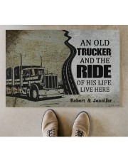 """An Old Trucker DD010901DH Customize Name Doormat 34"""" x 23"""" aos-doormat-34-x-23-lifestyle-front-04"""