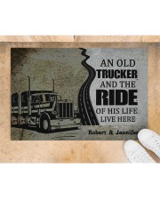 """An Old Trucker DD010901DH Customize Name Doormat 34"""" x 23"""" aos-doormat-34-x-23-lifestyle-front-05"""