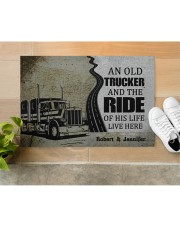 """An Old Trucker DD010901DH Customize Name Doormat 34"""" x 23"""" aos-doormat-34-x-23-lifestyle-front-12"""