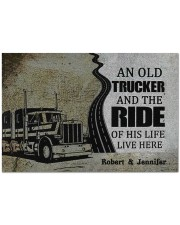 """An Old Trucker DD010901DH Customize Name Doormat 34"""" x 23"""" front"""