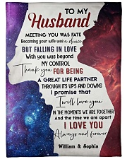 """To My Husband DD011613MA Blanket Customize Name Large Fleece Blanket - 60"""" x 80"""" front"""
