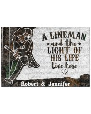 """A Lineman DD010716NA Customize Name Doormat 22.5"""" x 15""""  front"""