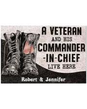 """Commander In Chief DD010408NA Doormat 34"""" x 23"""" front"""