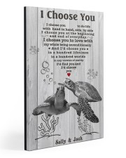 I Choose You 3 Customize Name Gallery Wrapped Canvas Prints tile
