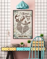 I Choose You Customize Name 11x17 Poster lifestyle-poster-6