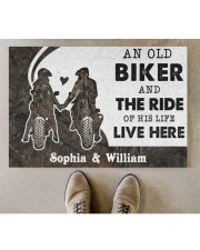 "An Old Biker DD010717NA Customize Name Doormat 34"" x 23"" aos-doormat-34-x-23-lifestyle-front-04"