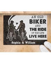"An Old Biker DD010717NA Customize Name Doormat 34"" x 23"" aos-doormat-34-x-23-lifestyle-front-05"