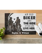 "An Old Biker DD010717NA Customize Name Doormat 34"" x 23"" aos-doormat-34-x-23-lifestyle-front-12"