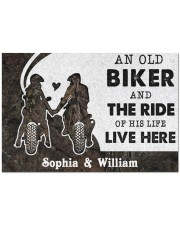 """An Old Biker DD010717NA Customize Name Doormat 34"""" x 23"""" front"""