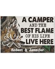 "A Camper DD010814NA Customize Name Doormat 34"" x 23"" front"