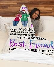 "Girls Best Friend Blanket Large Fleece Blanket - 60"" x 80"" aos-coral-fleece-blanket-60x80-lifestyle-front-03"