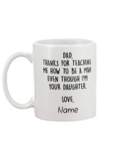 Daughter Father- Thanks for teaching Personalize Mug back