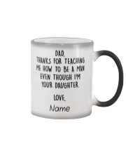 Daughter Father- Thanks for teaching Personalize Color Changing Mug tile